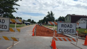 Work to replace concrete on Silver Drive started on Monday. (Staff photo by Jon Watje)