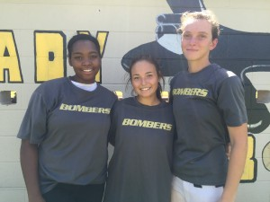 Midwest City's softball team will be led by seniors Shayla Iriving (Left), Mikayla Poe (Center) and Kylie McCoy (Right). (Provided photo)