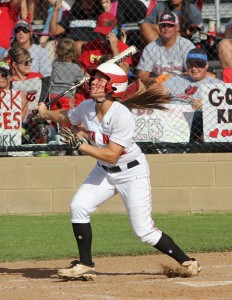 Audi LaValley is the top returning hitter for the Lady Titans softball team. (File photo)