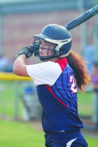 Minco's Gus Duty slammed a two-run walk-off homerun in the bottom of the seventh inning against Ninnekah to win the game for the Lady Bulldogs, 4-3.