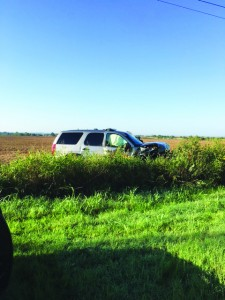 A Canadian County Sheriff's Deputy was involved in a accident on Monday morning. The two occupants of the other vehicle were seriously injured.