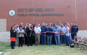 The City of Del City hosted a dedication ceremony for its new Public Works Administration building that opened earlier this year. (Staff photo by Jeff Harrison)