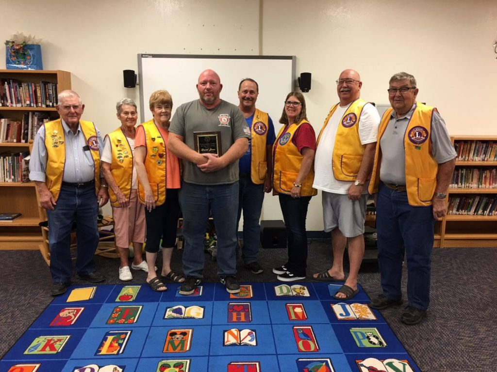 Members of the Union City Lion's Club will celebrate Union City Fire Chief David Jones Thursday at St. Joseph's Hall, located at 403 Kate Boevers in Union City.  Pictured from left are Don Bornemann, Kay Bornemann, Liz Gilpen, David Jones, Steve Michalicka, Tracey Michalicka, George Rowe, and Bob Maples.