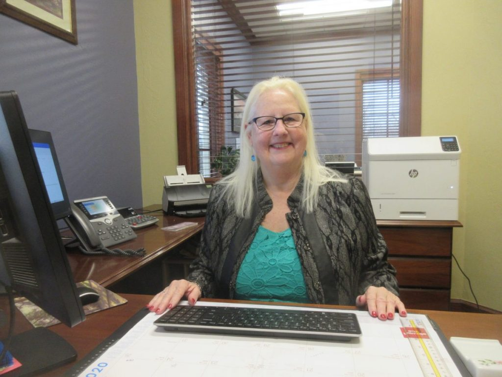Mary Henderson is retiring after 12 years with BancFirst in Choctaw. Henderson started her career in banking in 1981. (Photo by Maxine Wheelan)