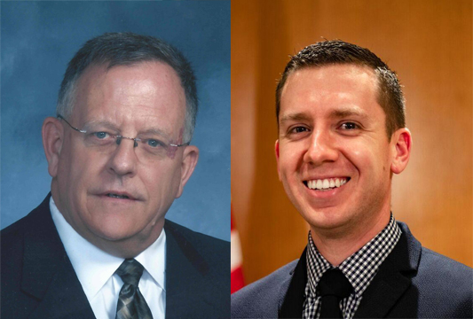 Midwest City Ward 2 City Council candidates Pat Byrne and Nicholas Timme. (Provided photos)