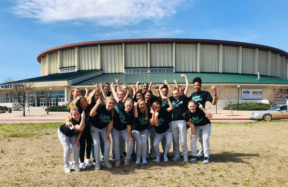 The Jones High School girls' basketball team arrives to the Oklahoma Fairgrounds Thursday to find out the tournament had been postponed. The Lady Longhorns made history as the first JHS girls' team to qualify for the state tourney.
