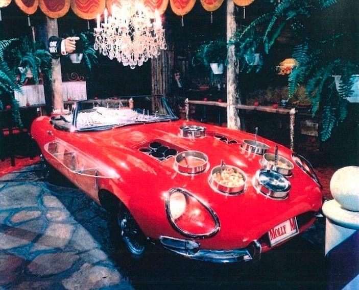 Pictured is a 1963 fire engine red soup and salad Jaguar from Molly Murphy's House of Fine Repute.  (Photo provided)