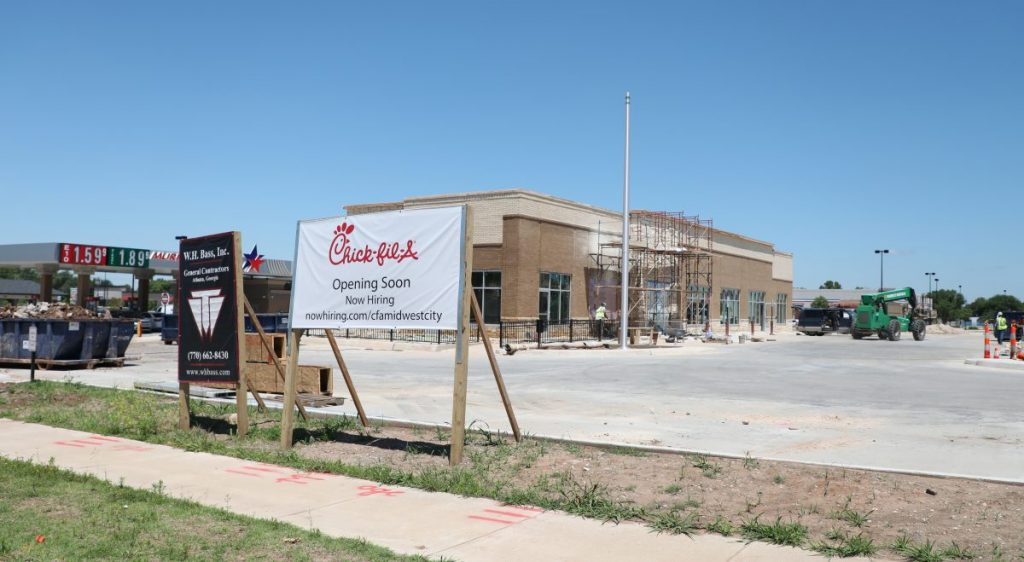 Chick-fil-A plans to open a second Midwest City location at 5705 SE 15th Street. (Photo by Jeff Harrison)
