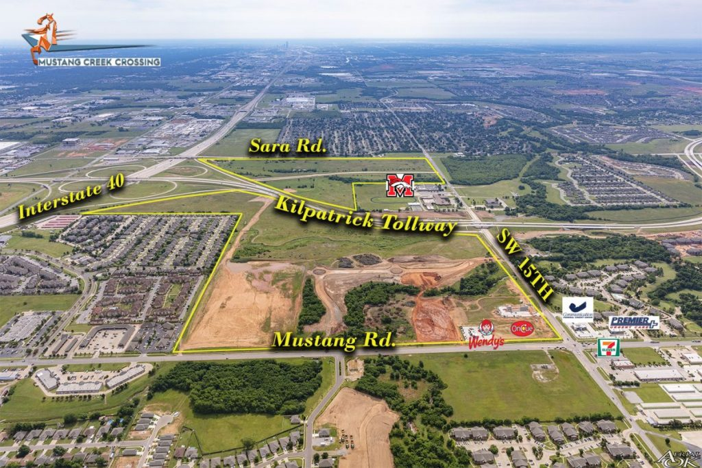 The largest commercial development in Oklahoma City is underway in the Mustang-Yukon area. Mustang Creek Crossing is 260 acres of restaurant, retail, medical, office, hotel, urban housing, and industrial development.  (Provided image)