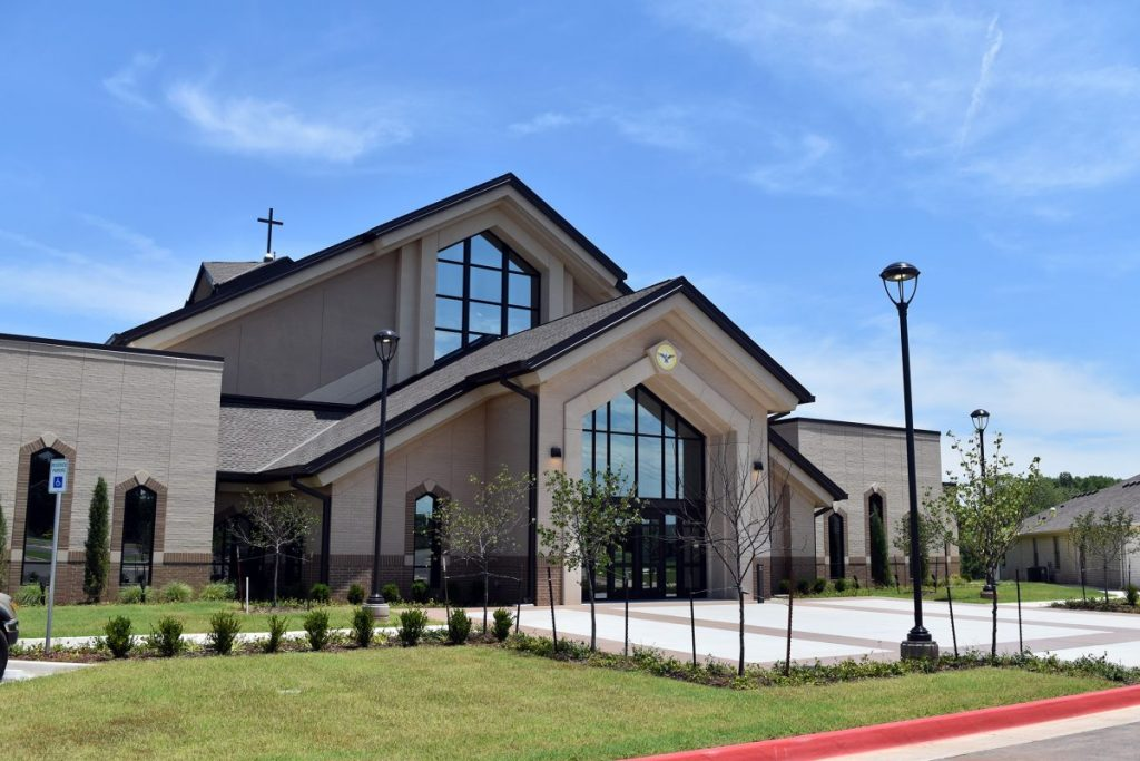Mustang's Holy Spirit Catholic Church's new recovery was a project literally more than three decades in the making, completed in recent months. (Staff photo by Traci Chapman)