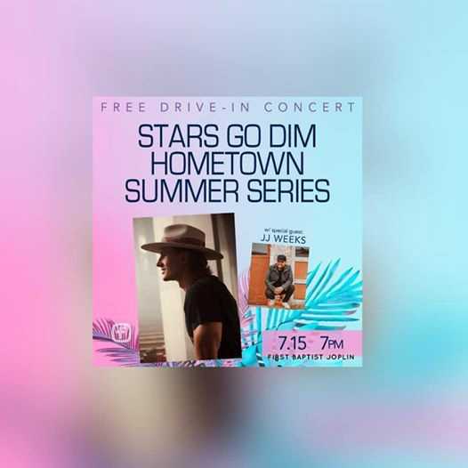 Stars Go Dim and special guest JJ Weeks will perform an outdoor concert at Mustang United Methodist Church in Mustang at 7 p.m., Thursday, July 16.