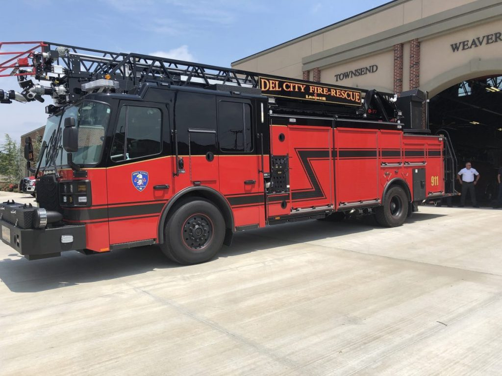 Del City purchased two new fire trucks. (Photo by Anthony Thomas)