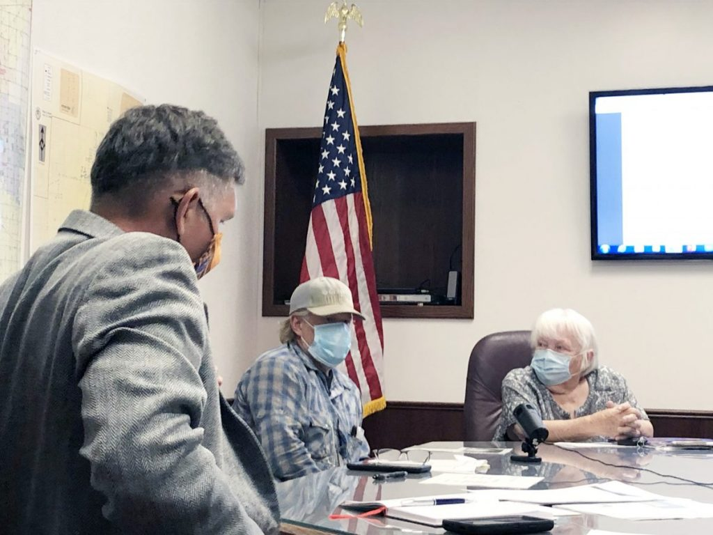 Local farmers defend their right to farm private property, within Choctaw city limits, using federally approved and regulated biosolid fertilizer. (PHOTO BY RYAN HORTON)