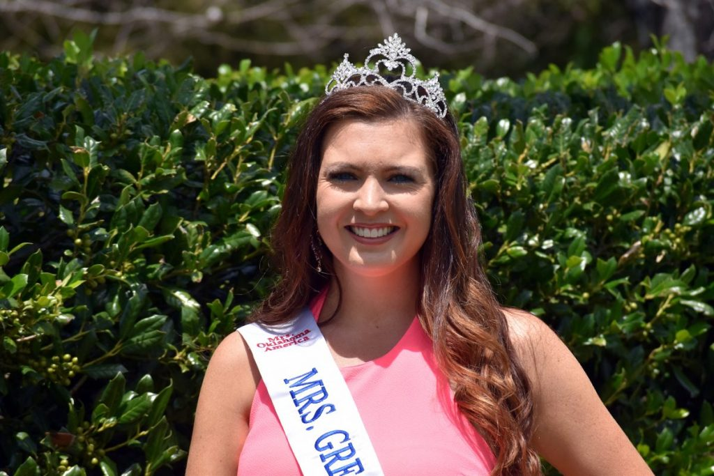 Mustang's Candice Faerber in August will compete in the Mrs. Oklahoma pageant. (Photo by Traci Chapman)