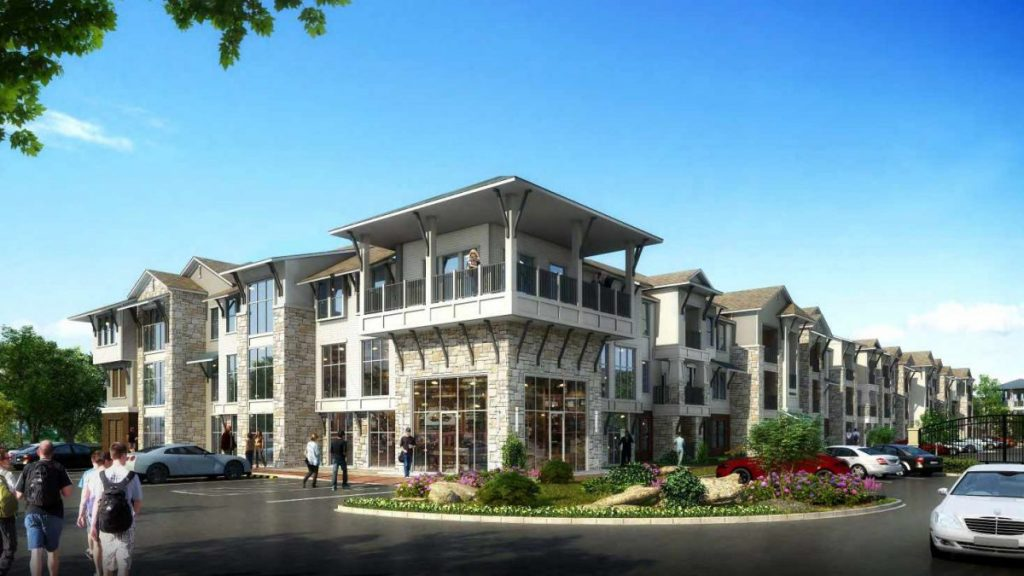 A rendering of an apartment complex planned near S. Douglas Blvd. and SE 29th St. (Provided photo)
