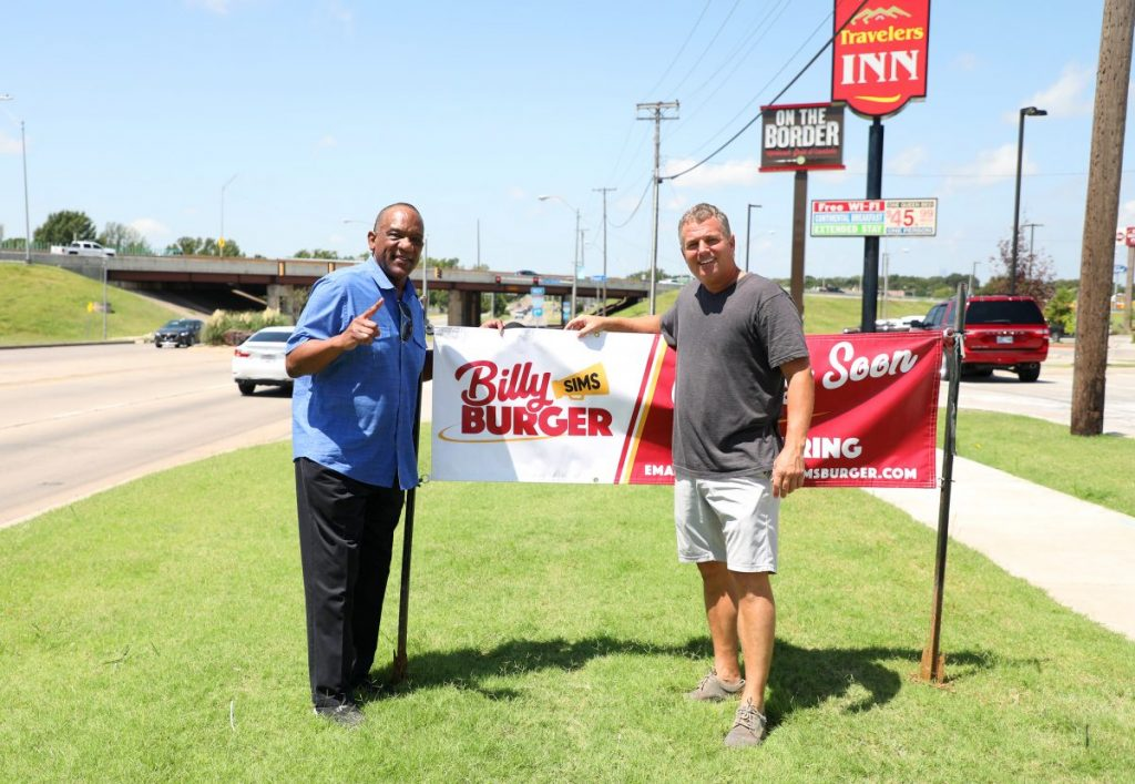 Billy Sims and Jeff Jackson are opening Billy Sims Burger in Midwest City. (Photo by Jeff Harrison)