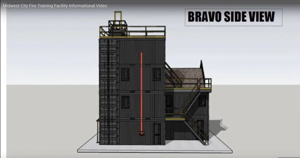 Design images for a burn building/tactical tower in Midwest City. (Provided image)