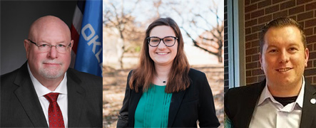 Rep. Robert Manger (Left), Madeline Scott (Center) and AJ Bailey (Right) are running for State House 101 on Nov. 3. (Photos provided)