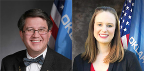 Rep. Andy Fugate (Left) and Lauren Rodebush (Right) are running for State House 94. (Photos provided)