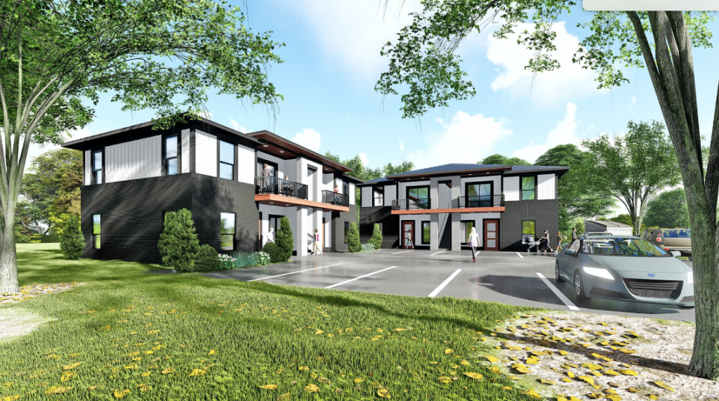 Developer Jeff Johnson, J Lou Properties, is proposing a 32-unit apartment complex on vacant property in the Original Mile neighborhood. (Image provided)