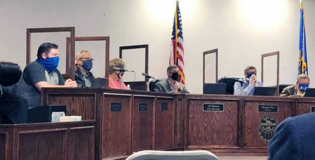 With a 5-2 vote, Choctaw City Council moved to extend the mask mandate within city limits until April 20. (PHOTO BY RYAN HORTON)