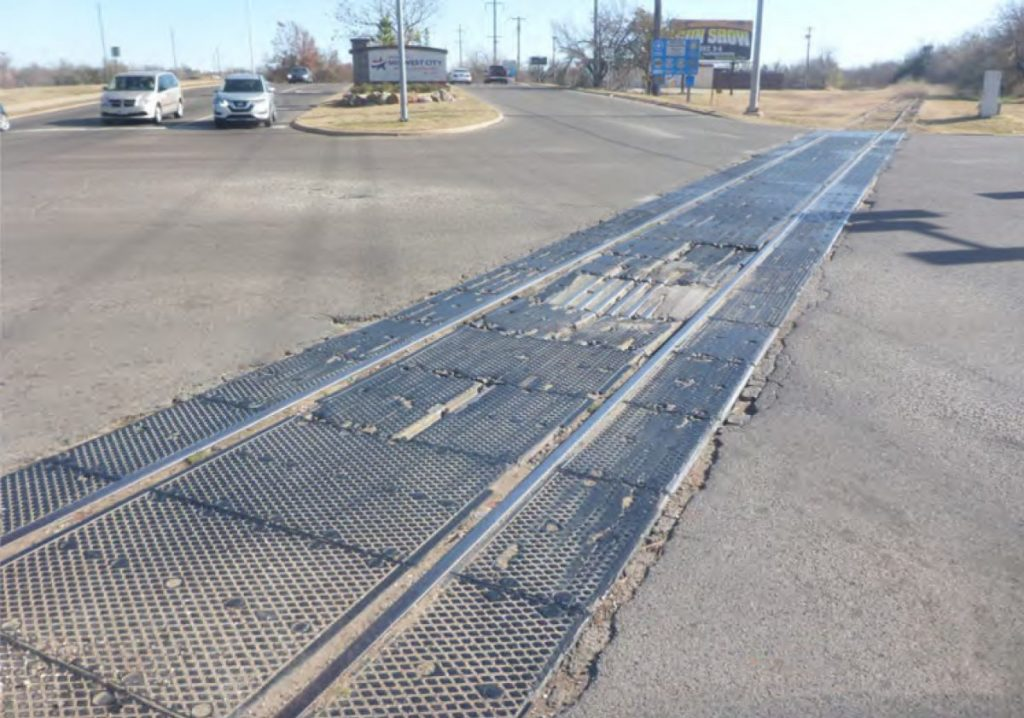 Midwest City and Del City are working together to remove an old railroad crossing at Sooner Rd. and Reno Ave. (Photo provided)