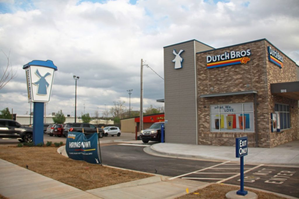 Dutch Bros Coffee opens in Midwest City on April 9. (Photo by Tonya Little)