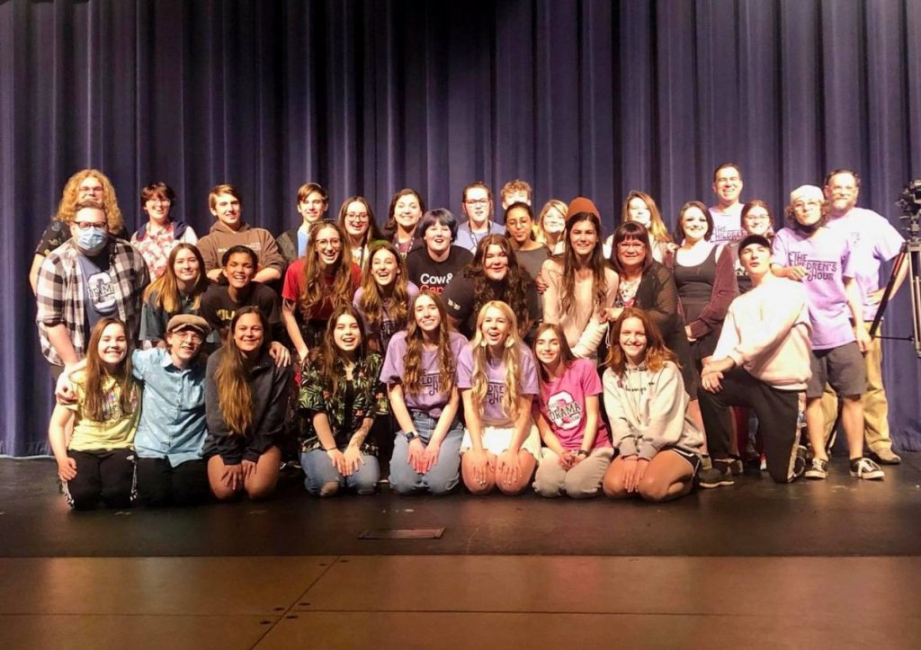 Cast and Crew of Choctaw's one-act cutting of The Children's Hour by Lillian Hellman celebrate claiming a state title. (PHOTO PROVIDED)