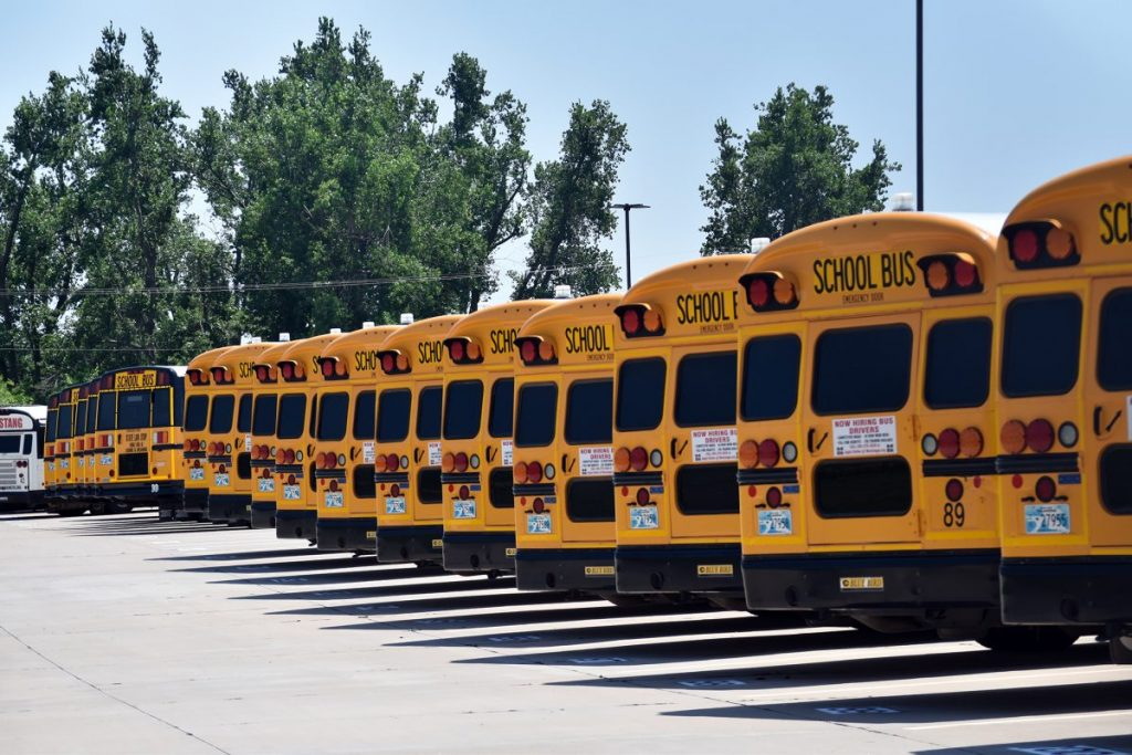 Mustang Public School District will get three new buses this year, thanks to Oklahoma Department of Environmental Quality's Clean Diesel program, which awarded the district a $71,124 grant to replace three older model diesel vehicles. (Photo/Traci Chapman)