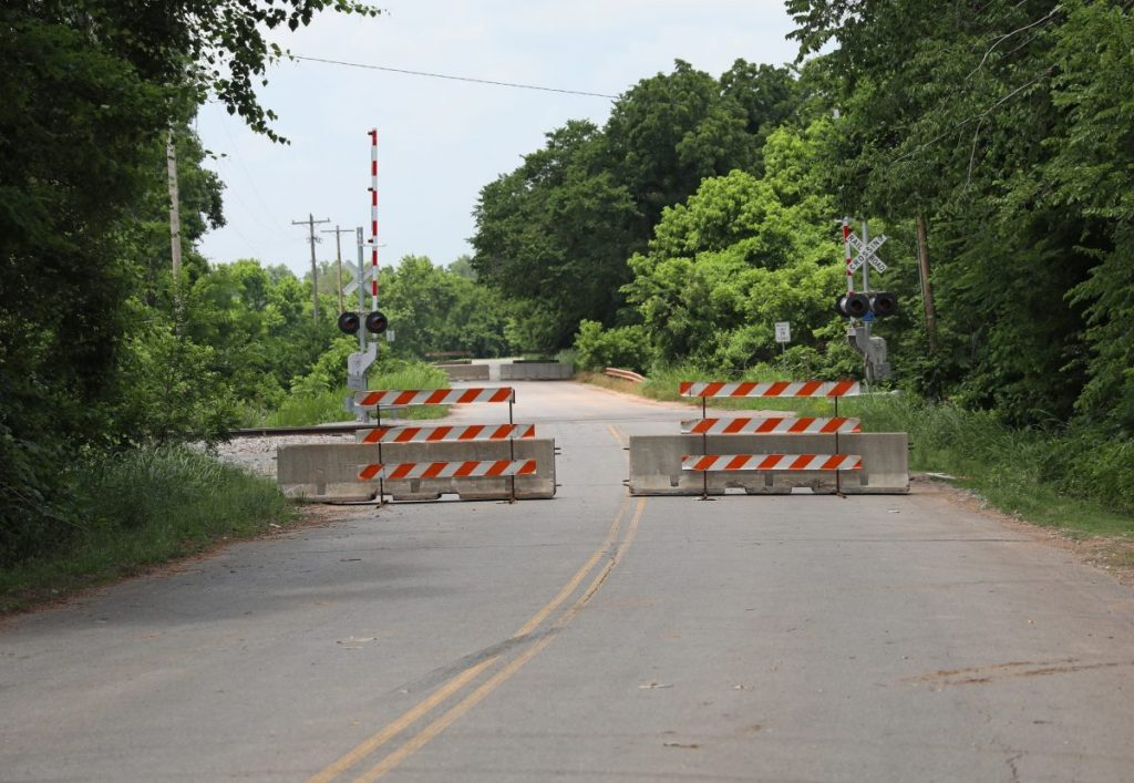 Midwest Boulevard is closed north of NE 36th St. for bridge repairs. (Photo by Jeff Harrison)