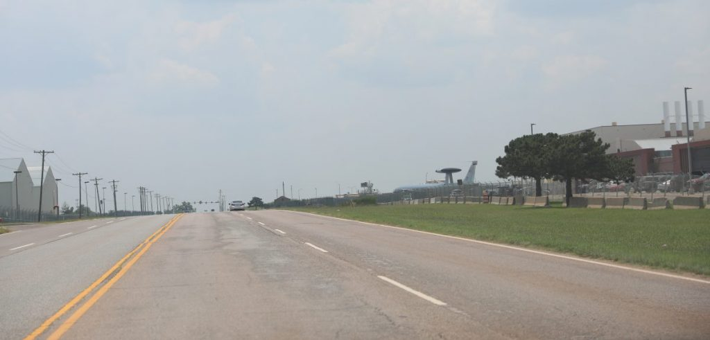 Oklahoma City officials announced that at a two-mile stretch of Douglas Blvd. between SE 44th and SE 74th streets will close to accommodate expansion of Tinker Air Force Base. (Photo by Jeff Harrison).