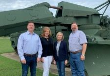 State Reps. Brian Hill, Rhonda Baker, Tammy West and Dick Lowe at Fort Leonard Wood. (Photo provided)