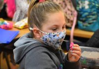 Students had to adjust to social distancing and wearing masks in classrooms last year. (Photo by Traci Chapman)