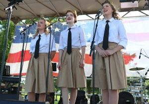 An Andrews Sisters tribute group performed at Tribute to Liberty on July 4 in Midwest City. (Photo by Jeff Harrison)