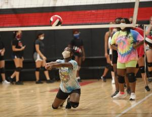 Volleyball starts fall practices